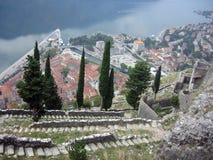 Vista na porta de Kotor Fotografia de Stock Royalty Free