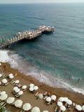 Vista na praia Fotos de Stock