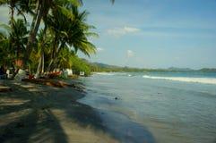 Vista na praia do samara, Costa Rica imagem de stock