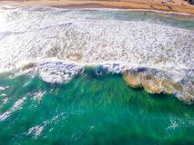 Vista na praia na ilha de Kauai foto de stock