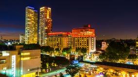 Vista na skyline de Buenos Aires em Argentina na noite Imagens de Stock Royalty Free