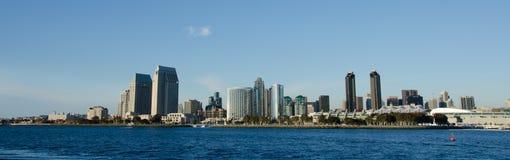 Vista na skyline de San Diego Foto de Stock Royalty Free