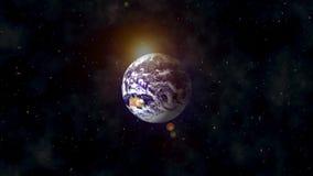 Vista na terra no espaço filme