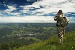 Vista na vila das montanhas Foto de Stock Royalty Free