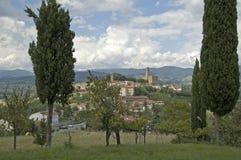 Vista na vila de Poppi Fotos de Stock Royalty Free