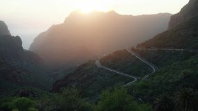 Vista na vila Maska no Tenerife vídeos de arquivo