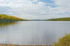 Vista Na Zachodnim Niedźwiedzia skóra jeziorze - Minnestoa Obrazy Royalty Free
