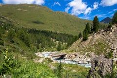 Vista nas montanhas Imagem de Stock Royalty Free