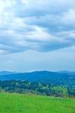 Vista nas montanhas carpathian Fotografia de Stock Royalty Free