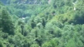Vista nas montanhas em Montenegro vídeos de arquivo