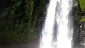 Vista natural del paisaje de la cascada almacen de metraje de vídeo
