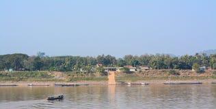 Vista natural do rio de Khong em Chaingkhan Foto de Stock Royalty Free