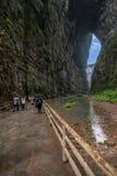 Vista naturale del ponte di Chongqing Wulong Fotografia Stock Libera da Diritti