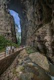 Vista naturale del ponte di Chongqing Wulong Fotografie Stock