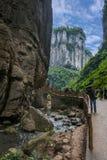 Vista naturale del ponte di Chongqing Wulong Immagine Stock Libera da Diritti