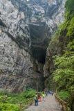 Vista naturale del ponte di Chongqing Wulong Fotografia Stock