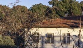Vista naturale della costruzione del villaggio anatolico Fotografia Stock