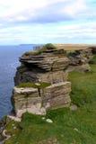 Vista naturale della pila della roccia Fotografia Stock