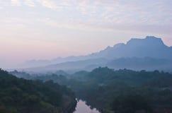 Vista naturale della Tailandia Fotografia Stock