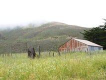 Vista nebbiosa del pendio di collina Fotografia Stock Libera da Diritti