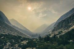 Vista nebbiosa, parco nazionale di re Canyon Fotografia Stock