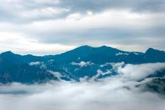 Vista nebulosa de montanhas de Seorak Fotografia de Stock Royalty Free