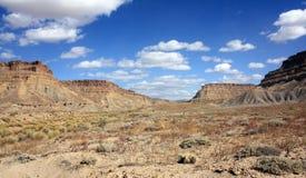 Vista nel canyon di Tusher fotografia stock