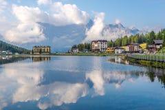Vista nel lago Misurina Immagine Stock Libera da Diritti