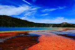 Vista nel parco nazionale di yellowstone Immagine Stock Libera da Diritti