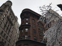 Vista nell'inverno, NYC di Manhattan Fotografie Stock