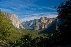 Vista nella sosta nazionale del Yosemite Fotografie Stock Libere da Diritti