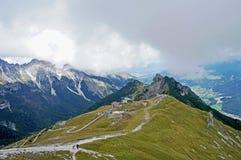 Vista nella valle di Stubai nel Tirolo Fotografie Stock Libere da Diritti