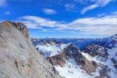 Vista nelle alpi svizzere Fotografie Stock