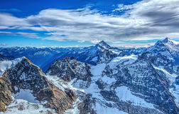 Vista nelle alpi svizzere, HDR Fotografia Stock