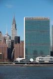 Vista New York City Manhattan de Long Island, EUA fotos de stock royalty free