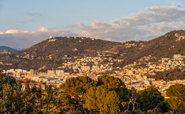 Vista Nizza - di Cote d'Azur - la Francia Fotografia Stock