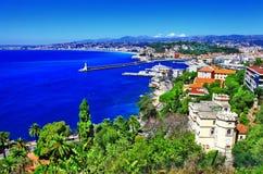 Vista Nizza, di riviera francese Immagine Stock