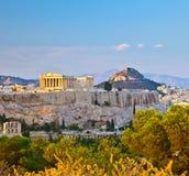 Vista no Acropolis em Atenas Imagem de Stock Royalty Free