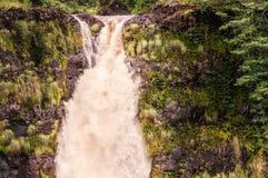 A vista no Akaka cai na ilha grande em Havaí Fotografia de Stock Royalty Free