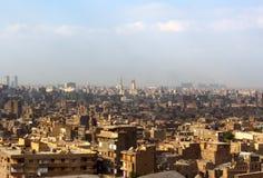 A vista no Cairo da parte superior imagens de stock