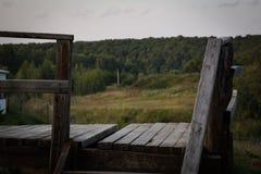 Vista no campo no campo Imagens de Stock Royalty Free