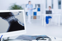 Vista no caso ortopédico difícil fotografia de stock royalty free