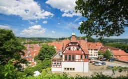 Vista no centro de Tubinga, Baden-Wurttemberg, Alemanha Imagens de Stock Royalty Free