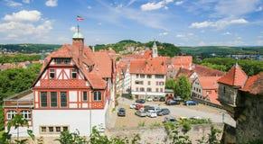 Vista no centro de Tubinga, Baden-Wurttemberg, Alemanha Foto de Stock