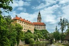 Vista no centro histórico de Cesky Krumlov europa Imagens de Stock