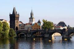 Vista no centro histórico de Praga Imagens de Stock Royalty Free