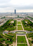 Vista no Champ de Mars, Paris Fotografia de Stock Royalty Free