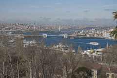 Vista no chifre dourado, Istambul Imagens de Stock