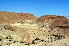 Vista no deserto antigo de Judean foto de stock