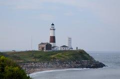 Vista no farol de Montauk em Long Island imagens de stock royalty free